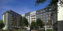 Rendering of Beach Green North Passive Building Project