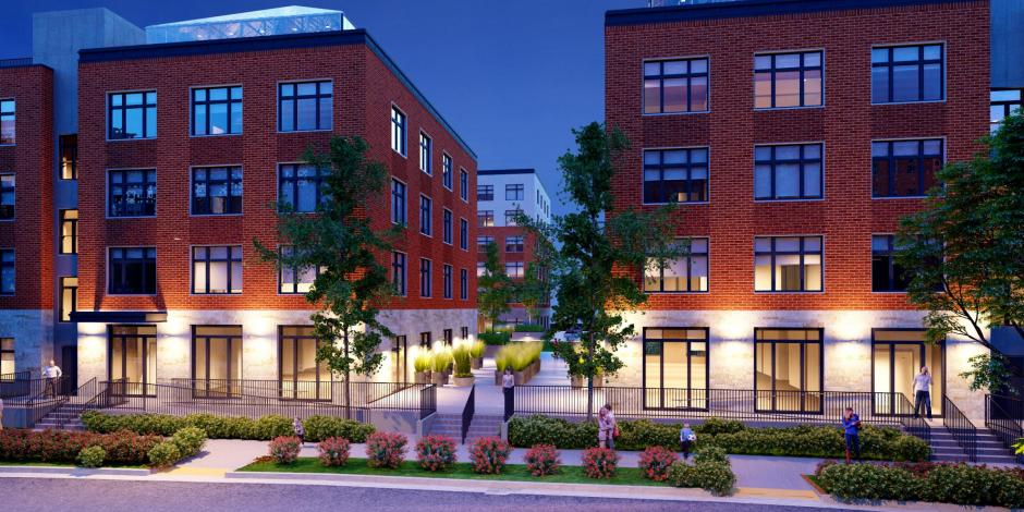 Second & Delaware Passive Building Project - Front Rendering