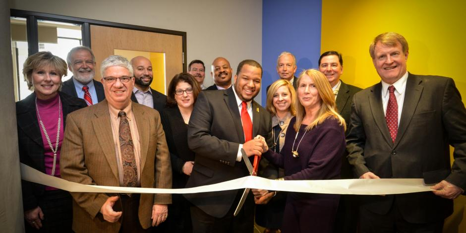 Ribbon Cutting Ceremony, Uptown Lofts Passive Building, PA