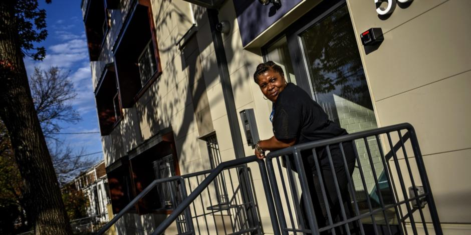 This new Weinberg Commons Passive Building resident is no longer homeless